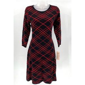 NANETTE Fit & Flare Swearer Dress NWT B01